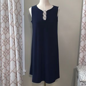 MSK Navy Swing Dress Navy Blue